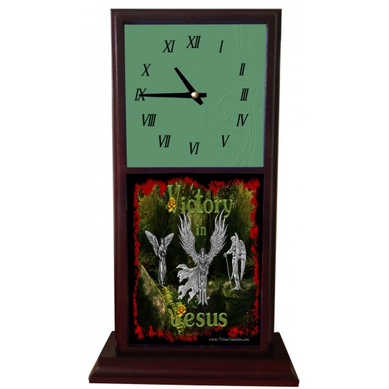 Victory in Jesus - Mantle Clock