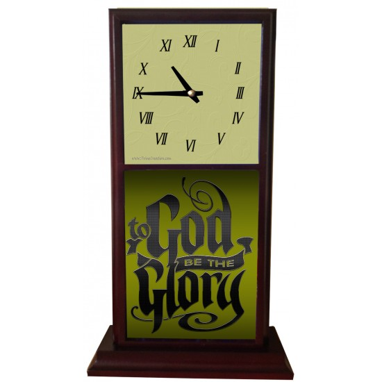to God be the Glory Mantle Clock