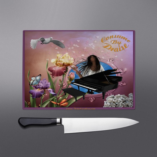 Consume by Praise Cutting Board