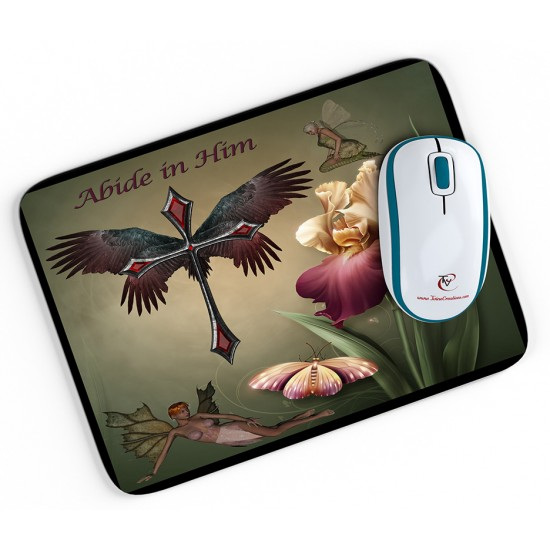 Abide in Him - Mouse pad
