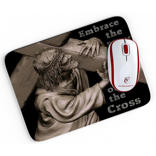 Embrace the Power of the Cross - Mouse pad
