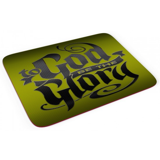Green - God be the Glory - Mouse pad