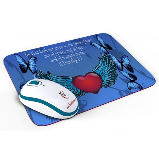 II Timothy 1:7 Mouse Pad