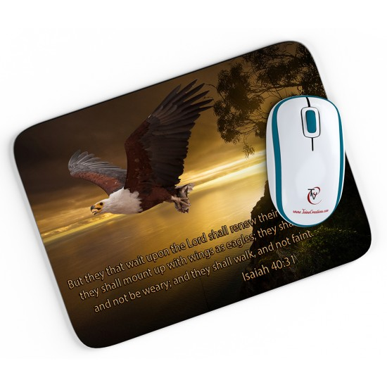 Isaiah 40:31 - Mouse pad-1