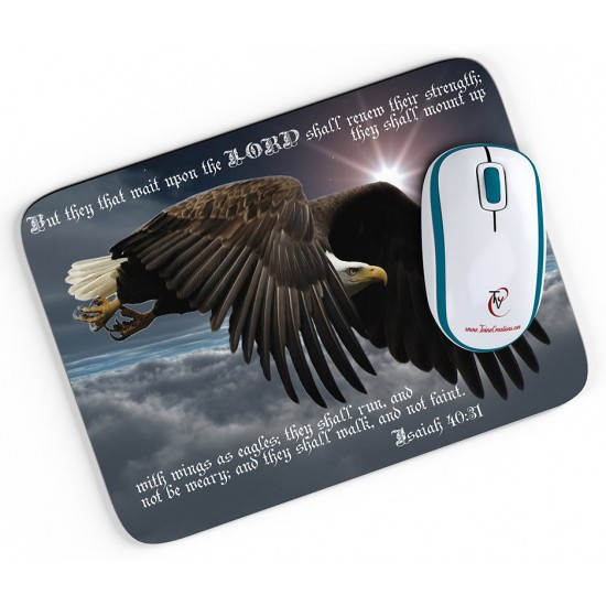 Isaiah 40:31 Mouse pad 2