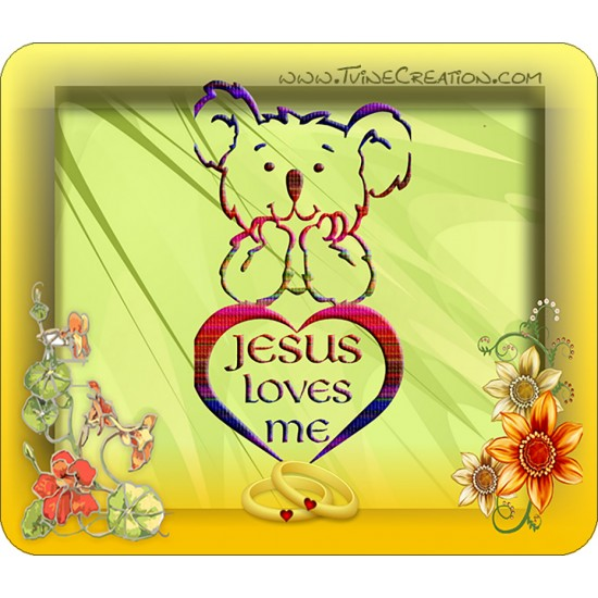 Jesus Loves Me - Mouse pad