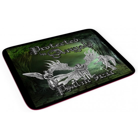 Protected by Angels - Mouse pad