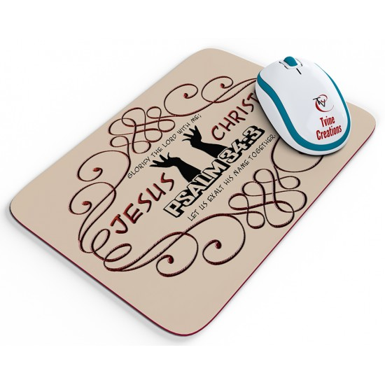 Psalm 34:3 - Mouse pad