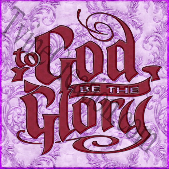 Red - God be the Glory - Mouse pad