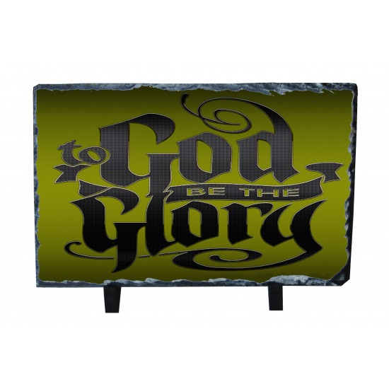 to God be the Glory Photo Slate(Green Background)