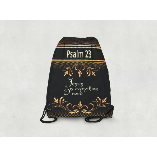 Psalm 23 Drawstring Backpack