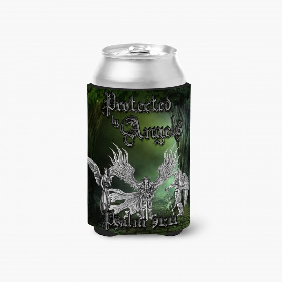 Beverage Insulator w/ Seams - Protected by Angels