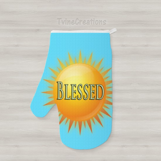 Blessed - Oven Mitts