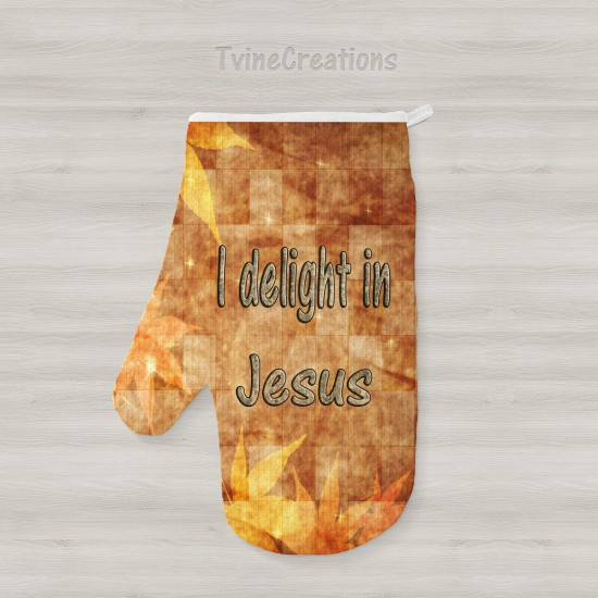 Delight in Jesus - Oven Mitts